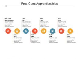 Pros Cons Apprenticeships Ppt Powerpoint Presentation Outline Samples Cpb