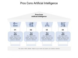 Pros Cons Artificial Intelligence Ppt Powerpoint Presentation Gallery Format Cpb