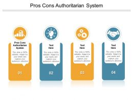 Pros Cons Authoritarian System Ppt Powerpoint Presentation Visual Aids Cpb