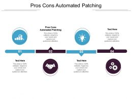 Pros Cons Automated Patching Ppt Powerpoint Presentation Gallery Master Slide Cpb