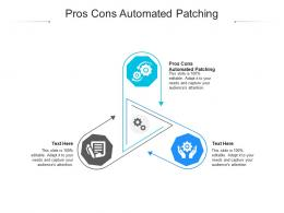 Pros Cons Automated Patching Ppt Powerpoint Presentation Ideas Example Topics Cpb
