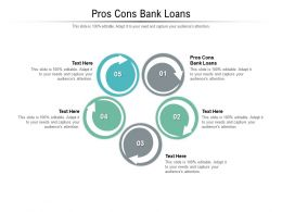 Pros Cons Bank Loans Ppt Powerpoint Presentation Ideas Graphics Download Cpb