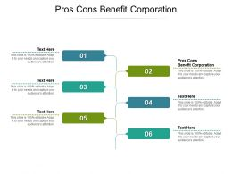 Pros Cons Benefit Corporation Ppt Powerpoint Presentation Infographic Template Templates Cpb