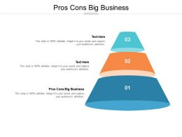 Pros Cons Big Business Ppt Powerpoint Presentation Picture Cpb