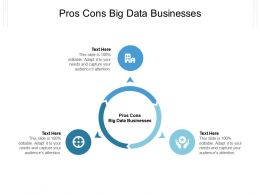 Pros Cons Big Data Businesses Ppt Powerpoint Presentation Pictures Inspiration Cpb