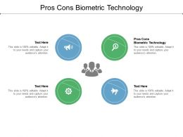 Pros Cons Biometric Technology Ppt Powerpoint Presentation Infographics Example Topics Cpb