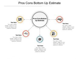 Pros Cons Bottom Up Estimate Ppt Powerpoint Presentation Examples Cpb