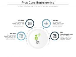 Pros Cons Brainstorming Ppt Powerpoint Presentation Icon Background Images Cpb