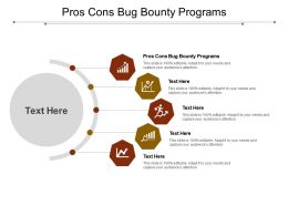 Pros Cons Bug Bounty Programs Ppt Powerpoint Presentation Slides Themes Cpb
