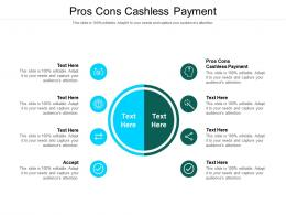 Pros Cons Cashless Payment Ppt Powerpoint Presentation Ideas Guidelines Cpb