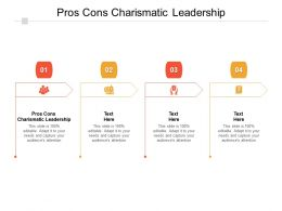 Pros Cons Charismatic Leadership Ppt Powerpoint Presentation Summary Images Cpb