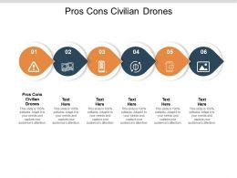 Pros Cons Civilian Drones Ppt Powerpoint Presentation Show Background Designs Cpb