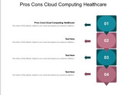 Pros Cons Cloud Computing Healthcare Ppt Powerpoint Presentation Outline Template Cpb