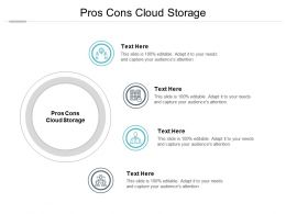 Pros Cons Cloud Storage Ppt Powerpoint Presentation Ideas Professional Cpb