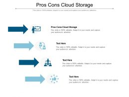 Pros Cons Cloud Storage Ppt Powerpoint Presentation Outline Guidelines Cpb