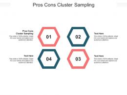 Pros Cons Cluster Sampling Ppt Powerpoint Presentation Summary Diagrams Cpb