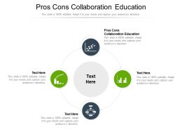 Pros Cons Collaboration Education Ppt Powerpoint Presentation Styles Design Ideas Cpb