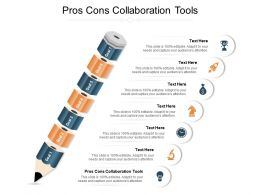 Pros Cons Collaboration Tools Ppt Powerpoint Presentation File Example Cpb