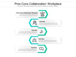 Pros Cons Collaboration Workplace Ppt Powerpoint Presentation Icon Format Cpb