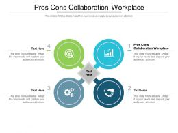 Pros Cons Collaboration Workplace Ppt Powerpoint Presentation Layouts Example Topics Cpb