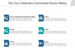 Pros Cons Collaborative Environmental Decision Making Ppt Powerpoint Presentation Portfolio Slides Cpb