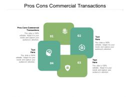 Pros Cons Commercial Transactions Ppt Powerpoint Presentation Slides Inspiration Cpb