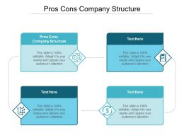 Pros Cons Company Structure Ppt Powerpoint Presentation Icon Format Cpb