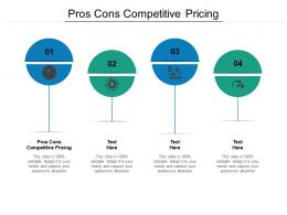 Pros Cons Competitive Pricing Ppt Powerpoint Presentation Visual Aids Styles Cpb