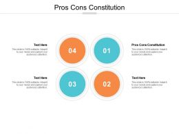 Pros Cons Constitution Ppt Powerpoint Presentation Icon Visual Aids Cpb