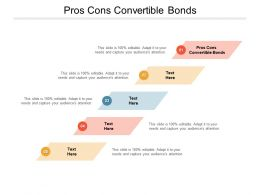 Pros Cons Convertible Bonds Ppt Powerpoint Presentation Layouts Ideas Cpb