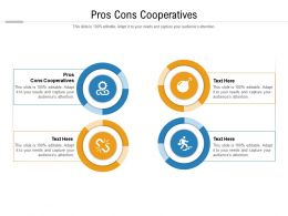 Pros Cons Cooperatives Ppt Powerpoint Presentation Layouts Deck Cpb