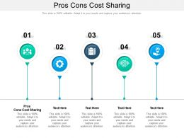 Pros Cons Cost Sharing Ppt Powerpoint Presentation Infographic Template Maker Cpb