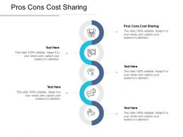 Pros Cons Cost Sharing Ppt Powerpoint Presentation Inspiration Example File Cpb