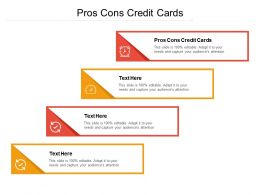 Pros Cons Credit Cards Ppt Powerpoint Presentation Ideas Layout Cpb