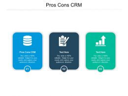 Pros Cons CRM Ppt Powerpoint Presentation Inspiration Slide Cpb
