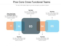 Pros Cons Cross Functional Teams Ppt Powerpoint Presentation Slides Icon Cpb