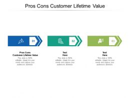 Pros Cons Customer Lifetime Value Ppt Powerpoint Presentation Professional Skills Cpb