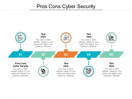 Pros Cons Cyber Security Ppt Powerpoint Presentation Summary Mockup Cpb