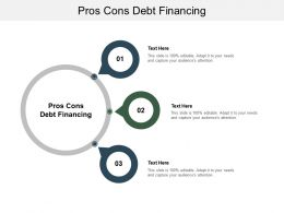 Pros Cons Debt Financing Ppt Powerpoint Presentation Icon Templates Cpb