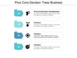 Pros Cons Decision Trees Business Ppt Powerpoint Presentation Model Outfit Cpb