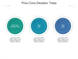 Pros Cons Decision Trees Ppt Powerpoint Presentation Summary Shapes Cpb
