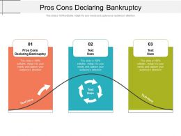 Pros Cons Declaring Bankruptcy Ppt Powerpoint Presentation Icon Background Image Cpb