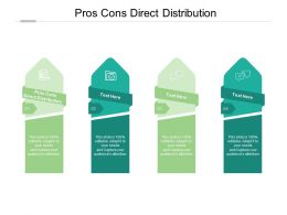 Pros Cons Direct Distribution Ppt Powerpoint Presentation Graphic Cpb