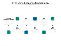 Pros Cons Economic Globalization Ppt Powerpoint Presentation File Background Designs Cpb