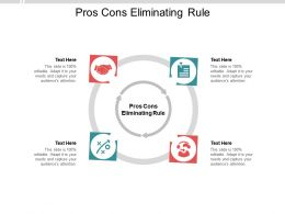 Pros Cons Eliminating Rule Ppt Powerpoint Presentation Professional Elements Cpb