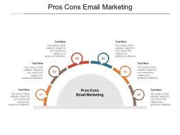 Pros Cons Email Marketing Ppt Powerpoint Presentation Pictures Graphics Cpb