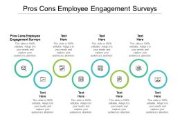 Pros Cons Employee Engagement Surveys Ppt Powerpoint Presentation Pictures Background Cpb