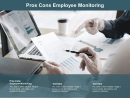 Pros Cons Employee Monitoring Ppt Powerpoint Presentation Pictures Cpb