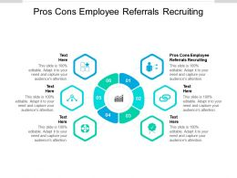 Pros Cons Employee Referrals Recruiting Ppt Powerpoint Presentation Styles Graphics Download Cpb