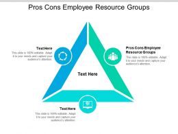 Pros Cons Employee Resource Groups Ppt Powerpoint Presentation Pictures Slideshow Cpb